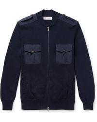 Brunello Cucinelli - Knitted Cotton Zip-up Sweater - Lyst