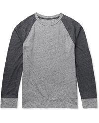 Club Monaco - Colour-block Mélange Cotton-blend Jersey T-shirt - Lyst