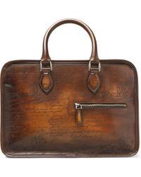 Berluti - Un Jour Mini Scritto Leather Briefcase - Lyst