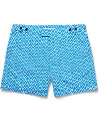 Frescobol Carioca - Ondas Printed Mid-length Swim Shorts - Lyst