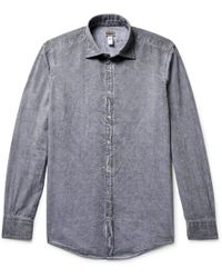 Massimo Alba - Genova Watercolour-dyed Paisley-print Cotton Shirt - Lyst