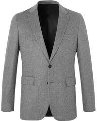 Burberry | Grey Mélange Cashmere Blazer | Lyst