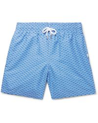 Derek Rose - Tropez Mid-length Printed Swim Shorts - Lyst