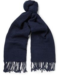 J.Crew | Waffle-knit Cotton Scarf | Lyst
