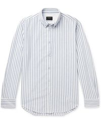 Rag & Bone - Fit 2 Tomlin Slim-fit Button-down Collar Striped Cotton Shirt - Lyst