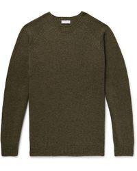 Sunspel - Shetland Wool Jumper - Lyst