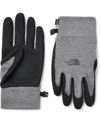The North Face - Etip Grip And Tech-fleece Gloves - Lyst