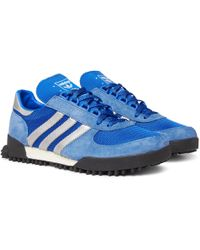 adidas Originals - Marathon Tr Mesh, Suede And Leather Trainers - Lyst
