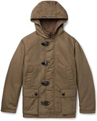 Tod's - Leather-trimmed Faux Shearling-lined Shell Hooded Jacket - Lyst