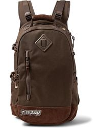 Visvim - Suede-trimmed Cordura Nylon Backpack - Lyst