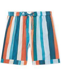 Desmond & Dempsey - Striped Cotton Pyjama Shorts - Lyst