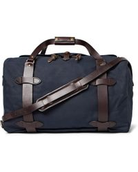 Filson | Leather-trimmed Twill Duffle Bag | Lyst