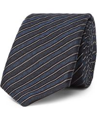 BOSS - 6cm Striped Silk-jacquard Tie - Lyst