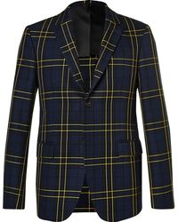 JOSEPH - Navy Hanford Prince Of Wales Checked Cotton-twill Suit Jacket - Lyst