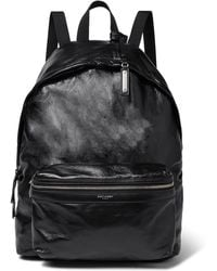 Saint Laurent - Polished Textured-leather Backpack - Lyst