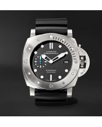 Officine Panerai - Luminor Submersible 1950 3 Days Automatic 47mm Titanium And Rubber Watch - Lyst