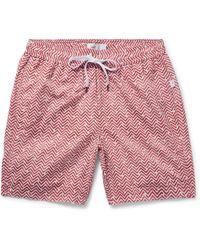 Onia - Charles Mid-length Printed Swim Shorts - Lyst
