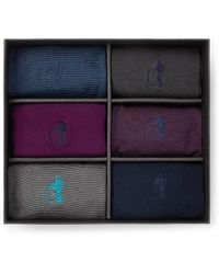 London Sock Co. - Simply Sartorial Six-pack Stretch Cotton-blend Socks - Lyst