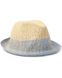 a4250e39245 Lyst - Paul Smith Dip Dye Trilby in Blue for Men