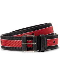 Givenchy - 3cm Leather-trimmed Webbing Belt - Lyst