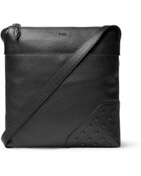 Tod's | Reporter Gommini Full-grain Leather Messenger Bag | Lyst