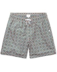 DEREK ROSE Bali 2 Slim-fit Mid-length Printed Swim Shorts - Blue xsJfmF3