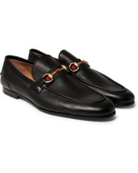 Gucci - Horsebit Leather Loafers - Lyst