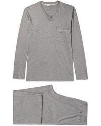 Zimmerli - Mélange Mercerised Cotton-jersey Pyjama Set - Lyst