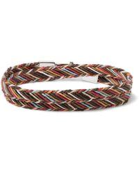 Paul Smith - Woven Cotton Wrap Bracelet - Lyst