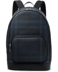 Burberry - Leather-trimmed Coated-canvas Backpack - Lyst
