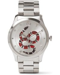 d524ccb640f Gucci Gold Medium G-timeless Snake Watch in Metallic for Men - Lyst