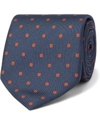 Dunhill - 8cm Printed Mulberry Silk-jacquard Tie - Lyst