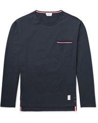 Thom Browne - Slim-fit Cotton-jersey T-shirt - Lyst