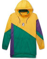 Balenciaga - Colour-block Shell Hooded Jacket - Lyst