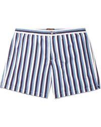 Tod's - Short-length Striped Swim Shorts - Lyst