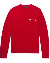 Rag & Bone - Victor Embroidered Wool-blend Jumper - Lyst