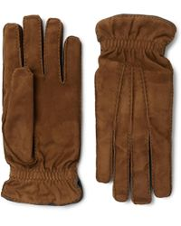 Brunello Cucinelli - Cashmere-lined Suede Gloves - Lyst