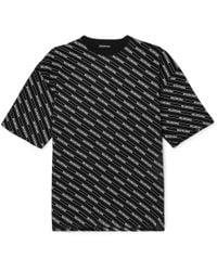 Balenciaga - All Over Regular T-shirt - Lyst
