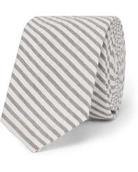 Thom Browne - 5.5cm Striped Cotton-seersucker Tie - Lyst