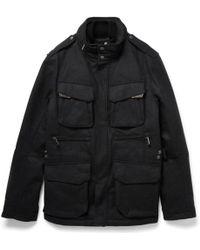 Ralph Lauren Black Label - Mandator Padded And Layered Wool-blend Jacket - Lyst