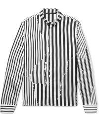 Haider Ackermann   Button-down Collar Striped Silk-twill Shirt   Lyst