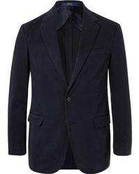 Polo Ralph Lauren - Navy Slim-fit Unstructured Cotton-blend Twill Blazer - Lyst