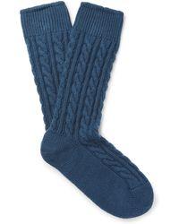 Kingsman - + Corgi Cable-knit Cashmere Socks - Lyst