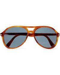 affc8a9d0e Persol - Aviator-style Tortoiseshell Acetate Sunglasses - Lyst