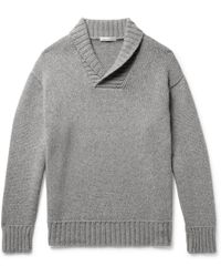 Anderson & Sheppard - Shawl-collar Cashmere Sweater - Lyst