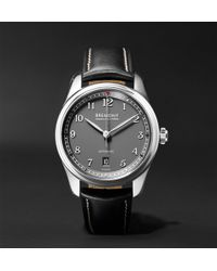 Bremont | Airco Mach 2 40mm Stainless Steel And Leather Watch | Lyst