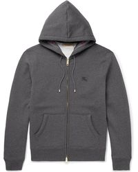 Burberry - Fleece-back Cotton-blend Jersey Hoodie - Lyst