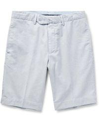 Hackett - Striped Cotton Shorts - Lyst