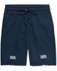 RTA - Jersey-trimmed Printed Nylon Drawstring Shorts - Lyst
