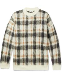 Cmmn Swdn - Micha Oversized Checked Knitted Sweater - Lyst